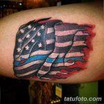 фото тату флаг 03.03.2019 №287 - идея для рисунка тату с флагом - tatufoto.com