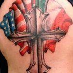 фото тату флаг 03.03.2019 №294 - идея для рисунка тату с флагом - tatufoto.com