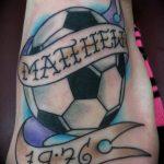 фото футбольный мяч 29.03.2019 №029 - tattoo soccer ball - tatufoto.com