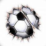 фото футбольный мяч 29.03.2019 №037 - tattoo soccer ball - tatufoto.com