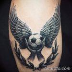 фото футбольный мяч 29.03.2019 №040 - tattoo soccer ball - tatufoto.com