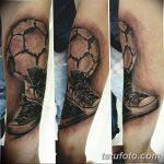 фото футбольный мяч 29.03.2019 №045 - tattoo soccer ball - tatufoto.com