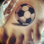 фото футбольный мяч 29.03.2019 №047 - tattoo soccer ball - tatufoto.com