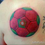 фото футбольный мяч 29.03.2019 №050 - tattoo soccer ball - tatufoto.com