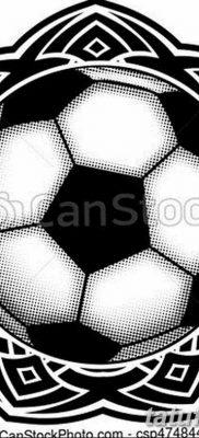 фото футбольный мяч 29.03.2019 №067 – tattoo soccer ball – tatufoto.com