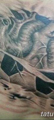 фото футбольный мяч 29.03.2019 №080 – tattoo soccer ball – tatufoto.com