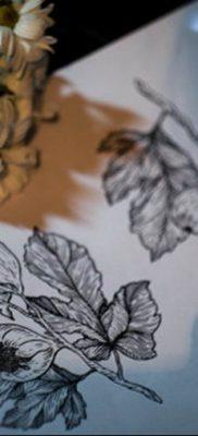 черно белый эскиз тату вариант рисунка 11.03.2019 №039 – tattoo sketch – tatufoto.com