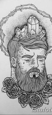 черно белый эскиз тату в стиле олд скул 11.03.2019 №005 – tattoo sketch – tatufoto.com