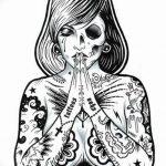 черно белый эскиз тату в стиле олд скул 11.03.2019 №012 - tattoo sketch - tatufoto.com