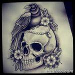 черно белый эскиз тату в стиле олд скул 11.03.2019 №078 - tattoo sketch - tatufoto.com