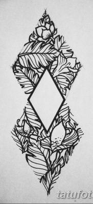 черно белый эскиз тату геометрия 09.03.2019 №001 – tattoo sketch – tatufoto.com