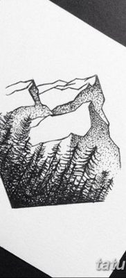 черно белый эскиз тату геометрия 09.03.2019 №009 – tattoo sketch – tatufoto.com