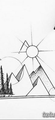 черно белый эскиз тату геометрия 09.03.2019 №013 – tattoo sketch – tatufoto.com