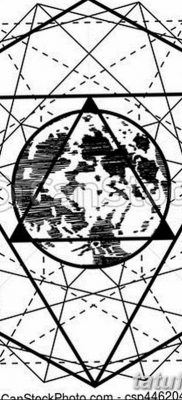 черно белый эскиз тату геометрия 09.03.2019 №023 – tattoo sketch – tatufoto.com