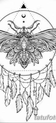 черно белый эскиз тату геометрия 09.03.2019 №025 – tattoo sketch – tatufoto.com