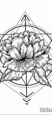 черно белый эскиз тату геометрия 09.03.2019 №027 – tattoo sketch – tatufoto.com