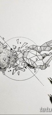 черно белый эскиз тату геометрия 09.03.2019 №029 – tattoo sketch – tatufoto.com