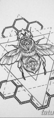 черно белый эскиз тату геометрия 09.03.2019 №031 – tattoo sketch – tatufoto.com