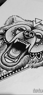 черно белый эскиз тату геометрия 09.03.2019 №034 – tattoo sketch – tatufoto.com