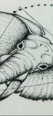 черно белый эскиз тату геометрия 09.03.2019 №041 – tattoo sketch – tatufoto.com