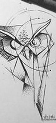 черно белый эскиз тату геометрия 09.03.2019 №042 – tattoo sketch – tatufoto.com