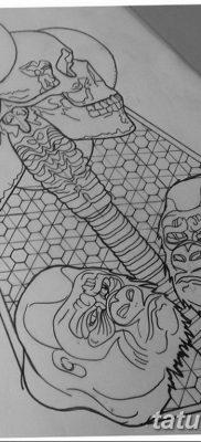 черно белый эскиз тату геометрия 09.03.2019 №059 – tattoo sketch – tatufoto.com