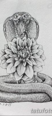 черно белый эскиз тату змея 11.03.2019 №003 – tattoo sketch – tatufoto.com