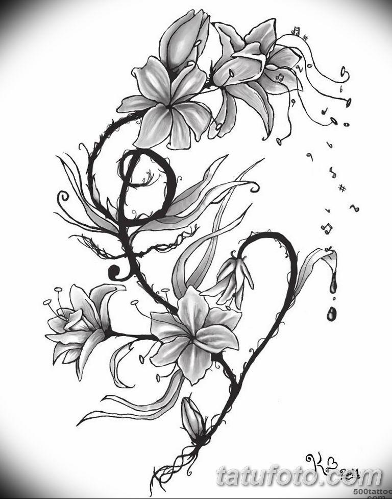 Картинки для тату черно белые цветы, рождеством