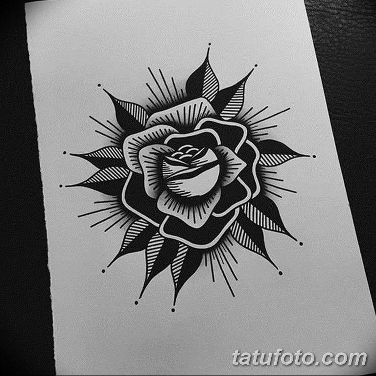 черно белый эскиз тату пример 09.03.2019 №092 - tattoo sketch - tatufoto.com
