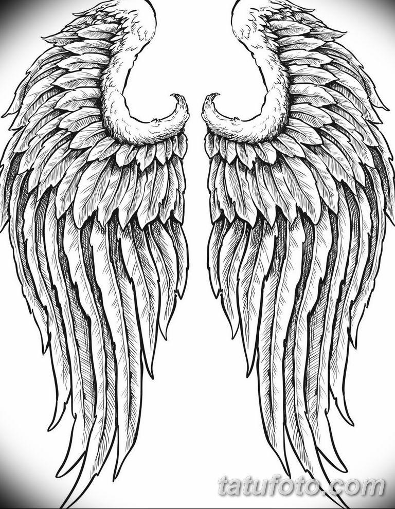 черно белый эскиз тату рисункок ангел 11.03.2019 №006 - tattoo sketch - tatufoto.com