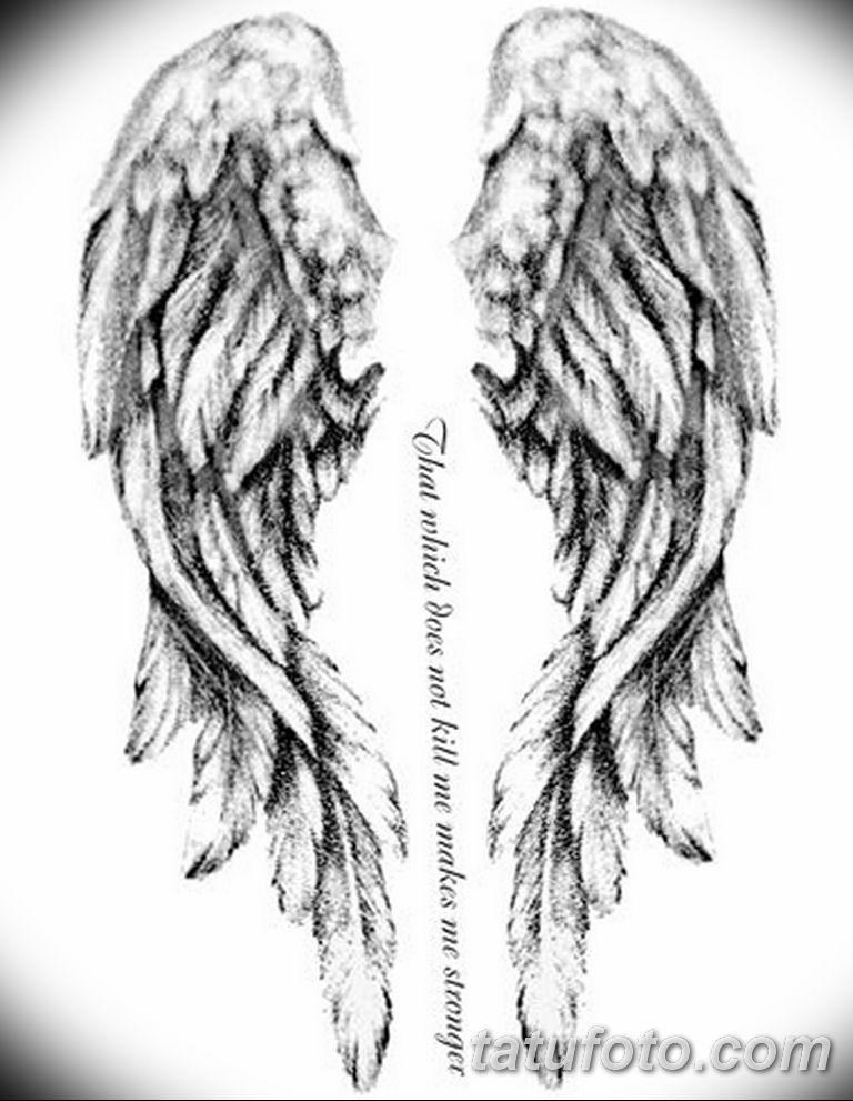 черно белый эскиз тату рисункок ангел 11.03.2019 №014 - tattoo sketch - tatufoto.com