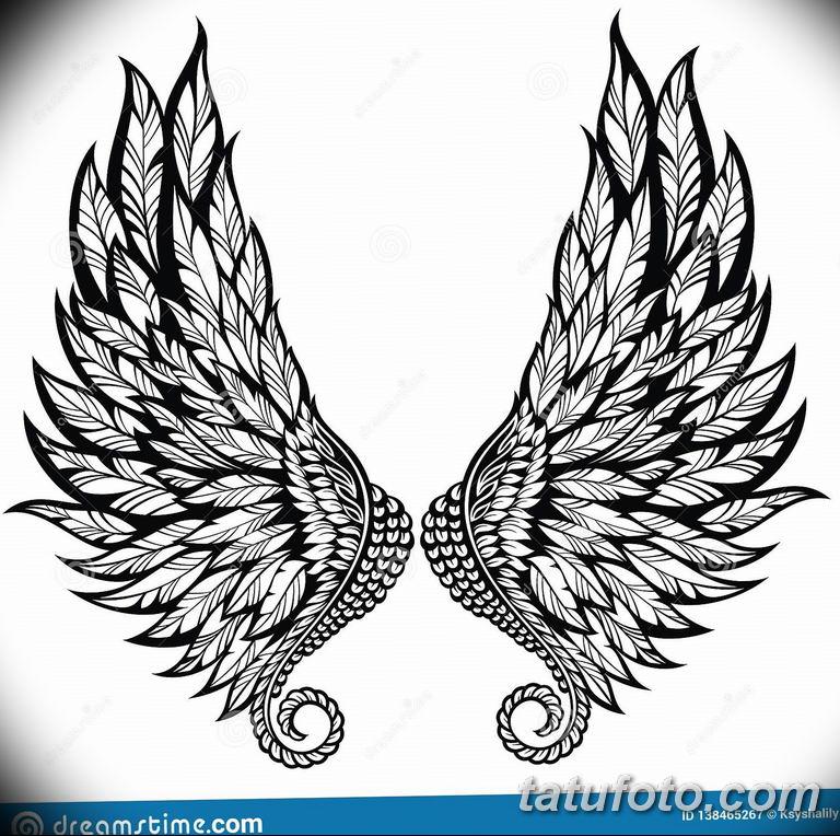 черно белый эскиз тату рисункок ангел 11.03.2019 №016 - tattoo sketch - tatufoto.com