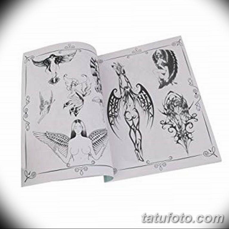 черно белый эскиз тату рисункок ангел 11.03.2019 №056 - tattoo sketch - tatufoto.com