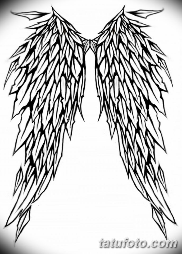 черно белый эскиз тату рисункок ангел 11.03.2019 №060 - tattoo sketch - tatufoto.com