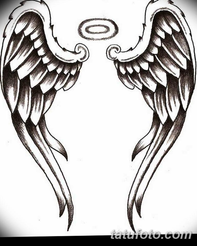 черно белый эскиз тату рисункок ангел 11.03.2019 №068 - tattoo sketch - tatufoto.com