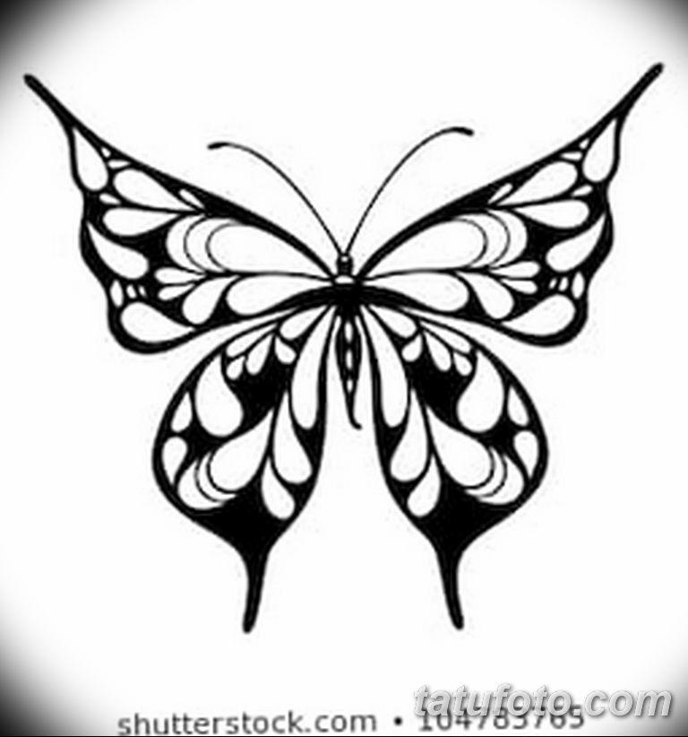 черно белый эскиз тату рисункок бабочка 11.03.2019 №016 - tattoo sketch - tatufoto.com