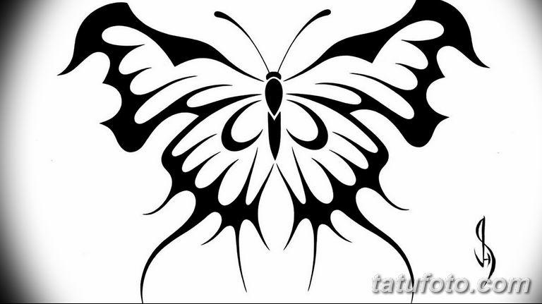 черно белый эскиз тату рисункок бабочка 11.03.2019 №020 - tattoo sketch - tatufoto.com