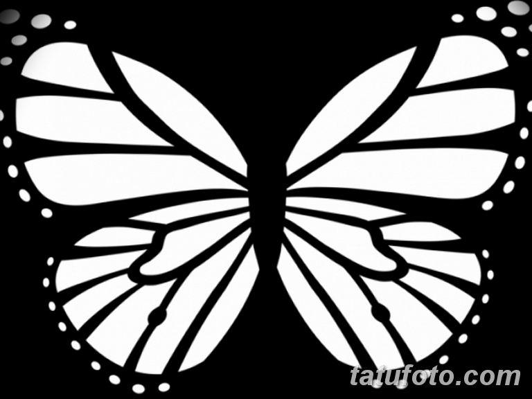 черно белый эскиз тату рисункок бабочка 11.03.2019 №026 - tattoo sketch - tatufoto.com