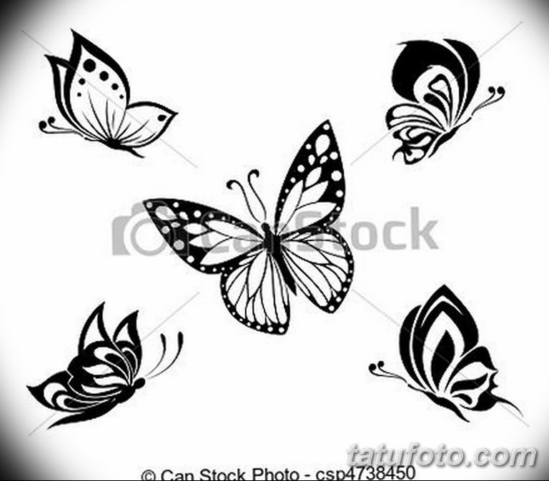 черно белый эскиз тату рисункок бабочка 11.03.2019 №036 - tattoo sketch - tatufoto.com