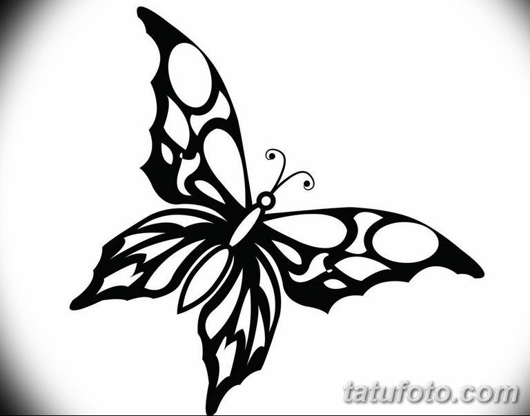 черно белый эскиз тату рисункок бабочка 11.03.2019 №042 - tattoo sketch - tatufoto.com