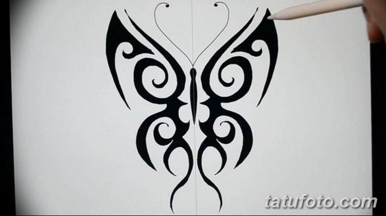 черно белый эскиз тату рисункок бабочка 11.03.2019 №044 - tattoo sketch - tatufoto.com