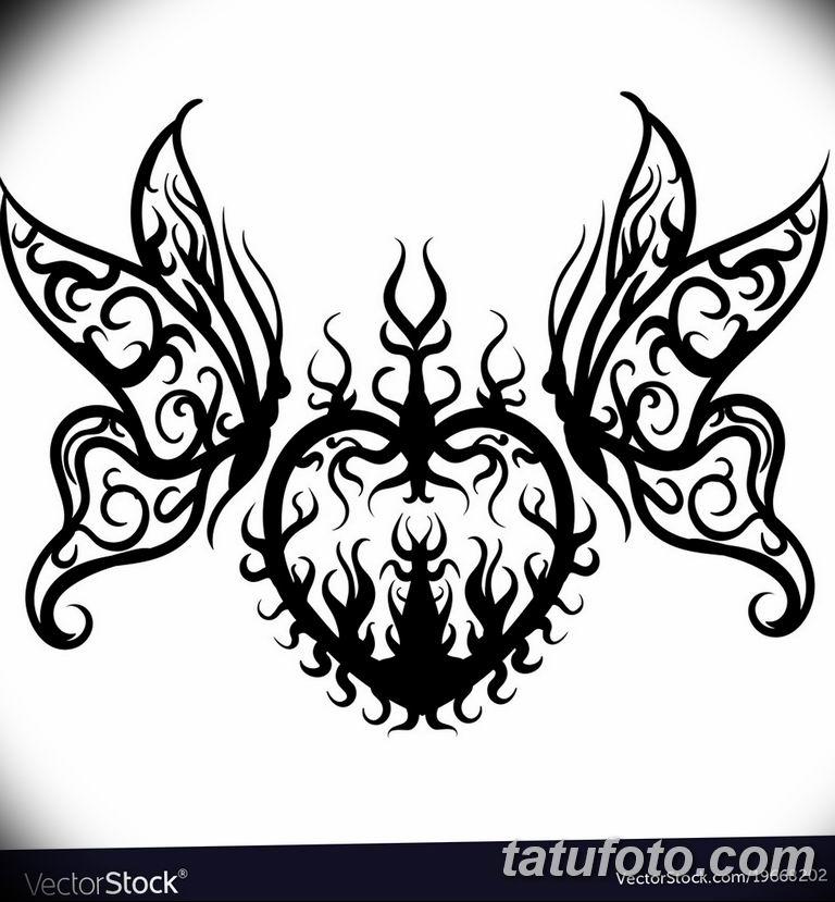 черно белый эскиз тату рисункок бабочка 11.03.2019 №045 - tattoo sketch - tatufoto.com