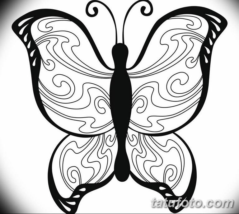 черно белый эскиз тату рисункок бабочка 11.03.2019 №046 - tattoo sketch - tatufoto.com