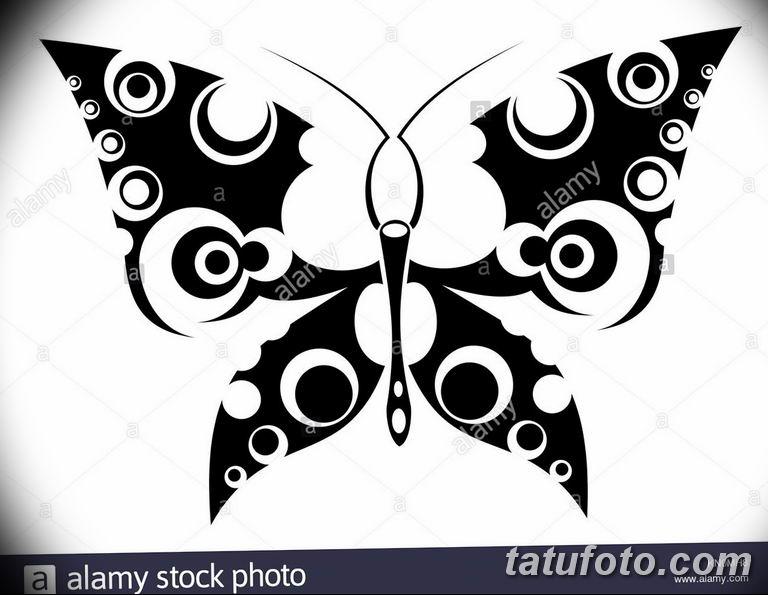 черно белый эскиз тату рисункок бабочка 11.03.2019 №047 - tattoo sketch - tatufoto.com