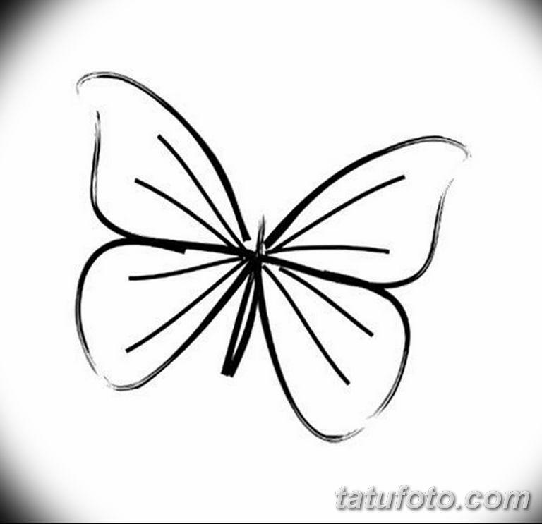 черно белый эскиз тату рисункок бабочка 11.03.2019 №050 - tattoo sketch - tatufoto.com