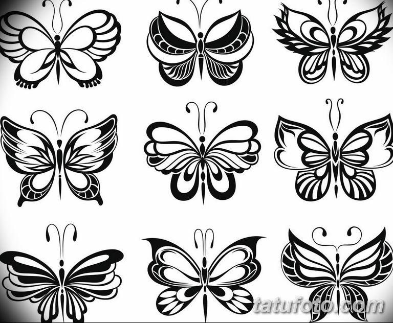 черно белый эскиз тату рисункок бабочка 11.03.2019 №061 - tattoo sketch - tatufoto.com