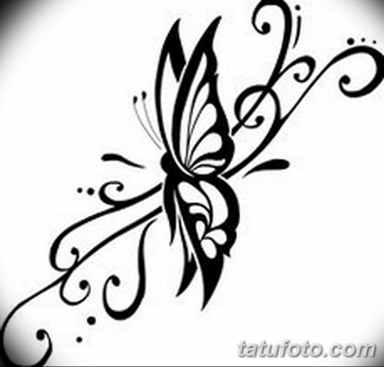 черно белый эскиз тату рисункок бабочка 11.03.2019 №062 - tattoo sketch - tatufoto.com