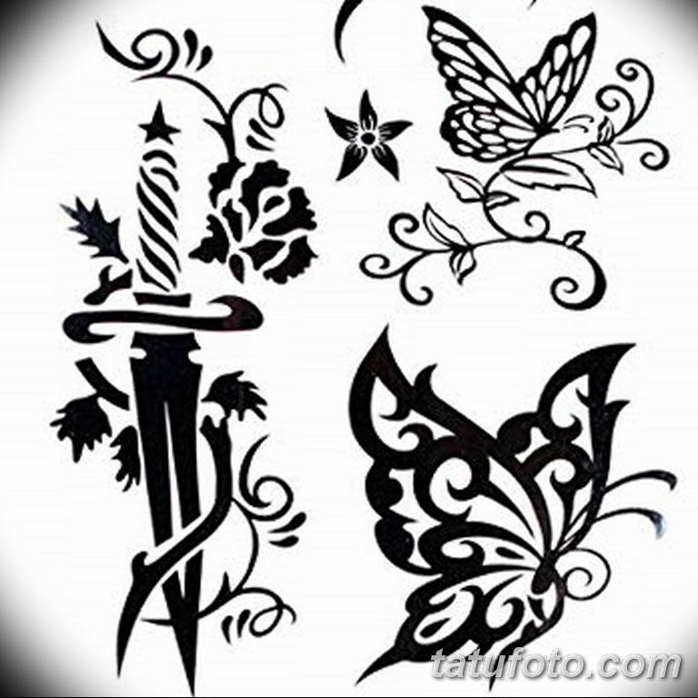 черно белый эскиз тату рисункок бабочка 11.03.2019 №067 - tattoo sketch - tatufoto.com
