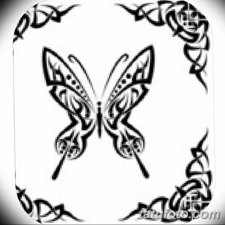 черно белый эскиз тату рисункок бабочка 11.03.2019 №078 - tattoo sketch - tatufoto.com