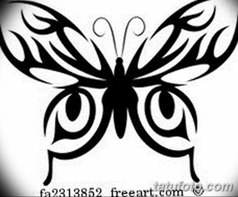 черно белый эскиз тату рисункок бабочка 11.03.2019 №079 - tattoo sketch - tatufoto.com